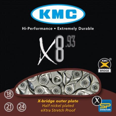 Cadena KMC X8 18 21 24 Velocidades