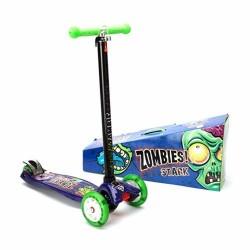 Monopatín con luces en las ruedas modelo Zombie