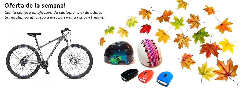 Promo bici + casco + timbre luz