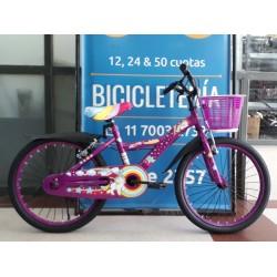 Bicicleta Nena Rodado 20 Jordan Unicornio