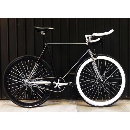 Bicicleta de Pista Empipada Cromada Modelo Zeus