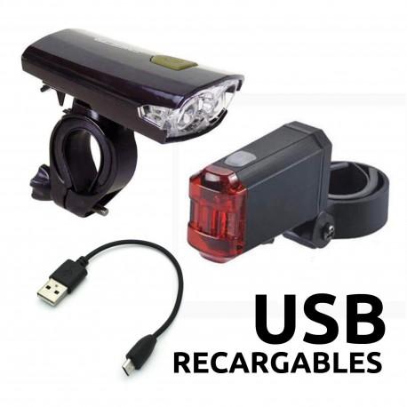 Juego de luces USB para bicicleta JY-7016 + 401A1