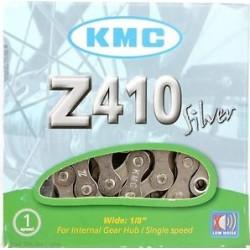 Cadena KMC Z410 SILVER Single Speed