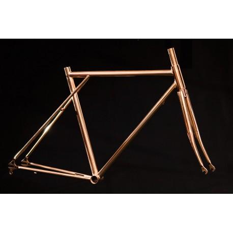 Cuadro Triple Triángulo Cromo Bronce Fixie