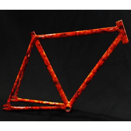 Cuadro para Fixie de Aluminio Modelo Fuego
