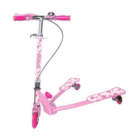 Monopatín con luces 3 ruedas Pinky