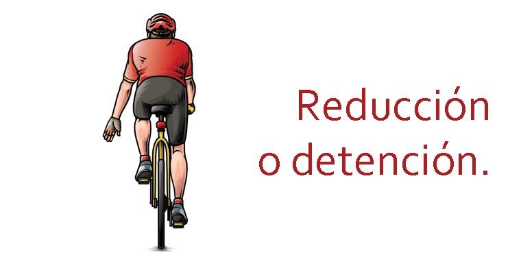 Parar en bicicleta señales