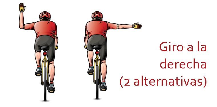 Girar con bicicleta señales