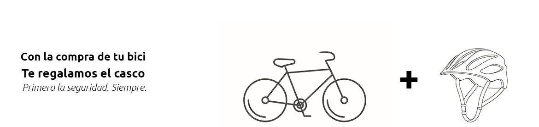 Casco de regalo con la compra de tu bici