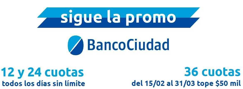 12, 24 y 36 cuotas Banco Ciudad