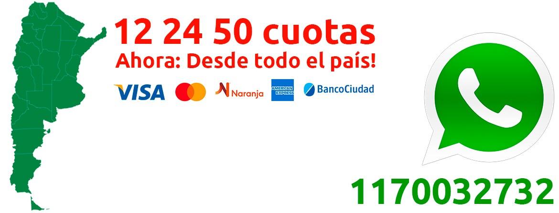 12 24 50 CUOTAS DESDE TODO EL PAÍS